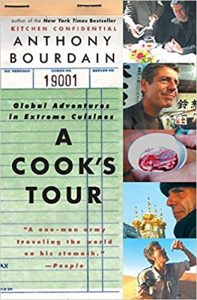 The December selection for Books that Bind is A Cook's Tour: Global Adventures in Extreme Cuisines by Anthony Bourdain. We'll be meeting Thursday, December 16, 2021. Join us!